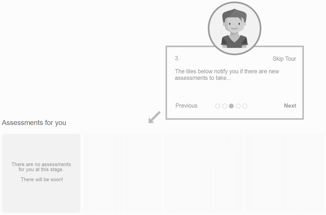 case study: wireframing - onboarding education website: onboarding-step3