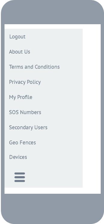 slide out menu screen