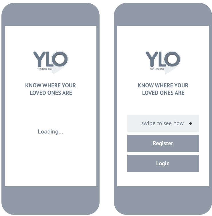 splash screen and before sign-up screen