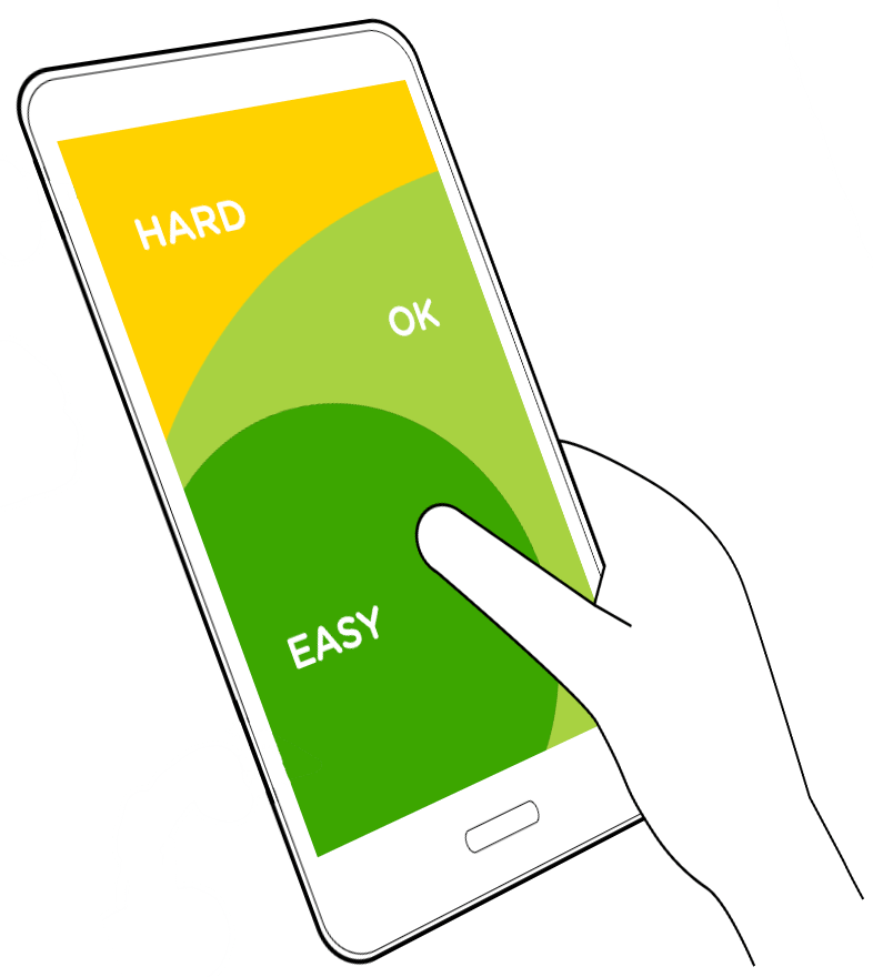 mobile screen thumb stretch comfort areas