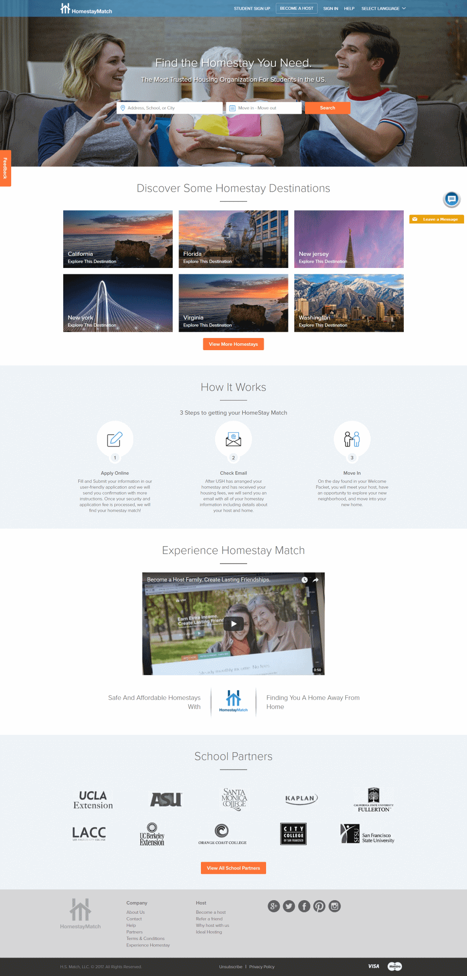 existing homepage
